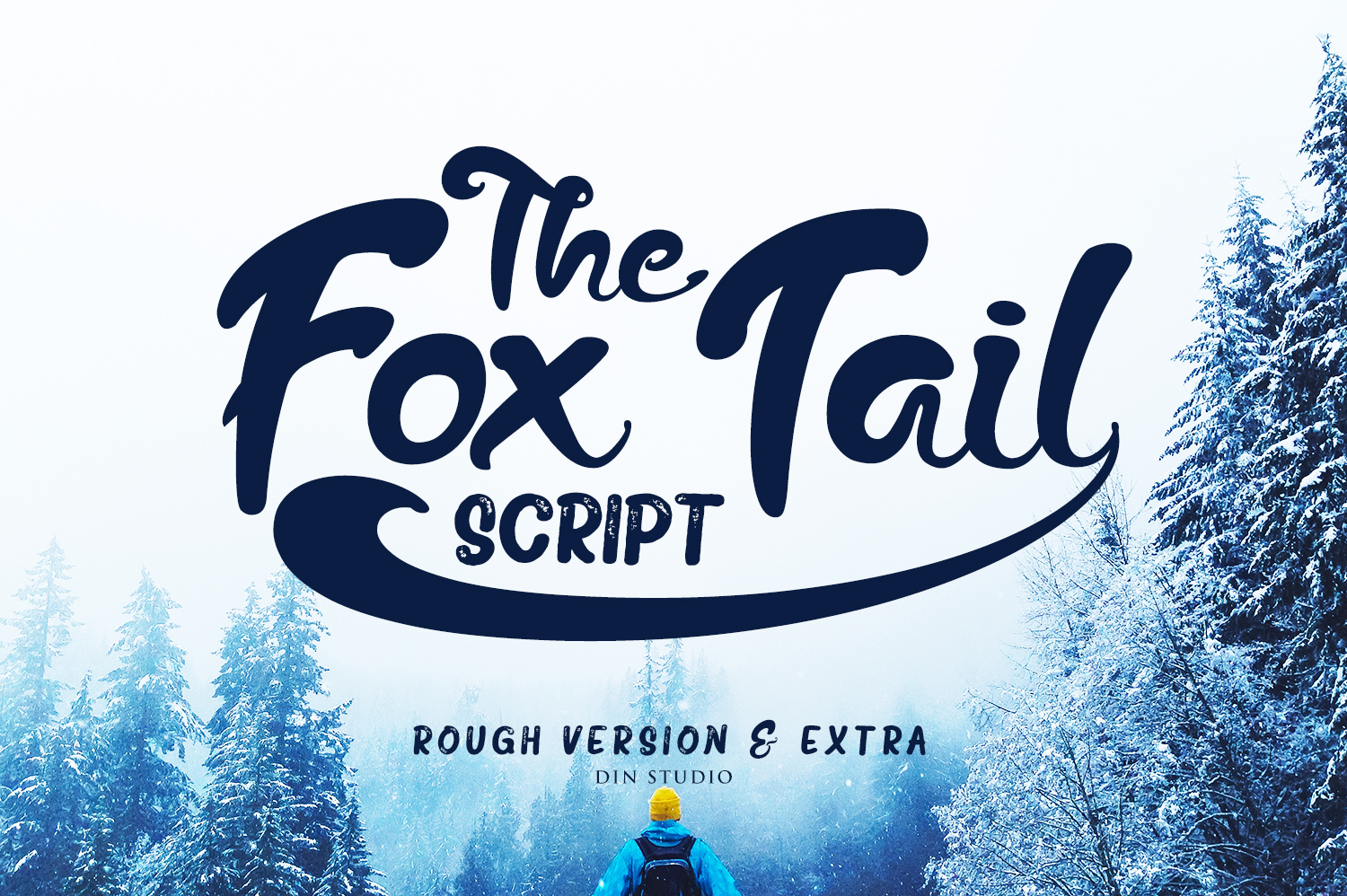Print on Demand: The Fox Tail Script & Handwritten Font By Din Studio