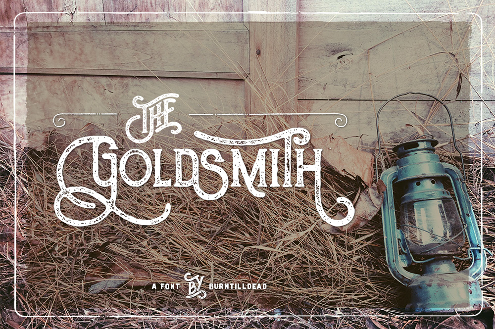 The Goldsmith Font By Burntilldead