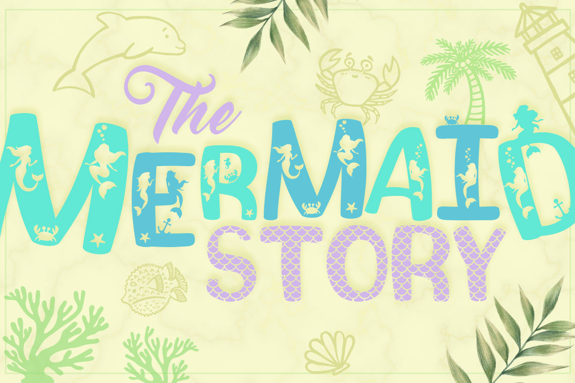 Print on Demand: The Mermaid Story Display Font By Anastasia Feya