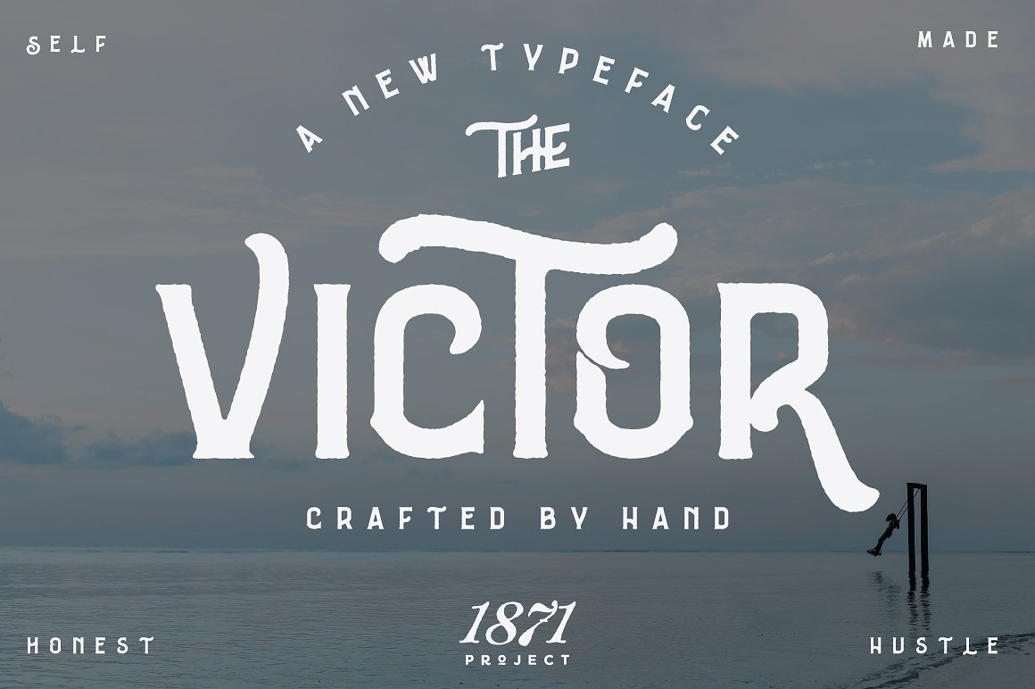 The Victor Display Font By 1871 Project
