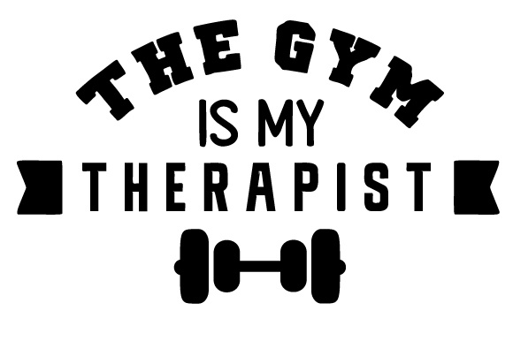 The Gym is My Therapist Sports Craft Cut File By Creative Fabrica Crafts