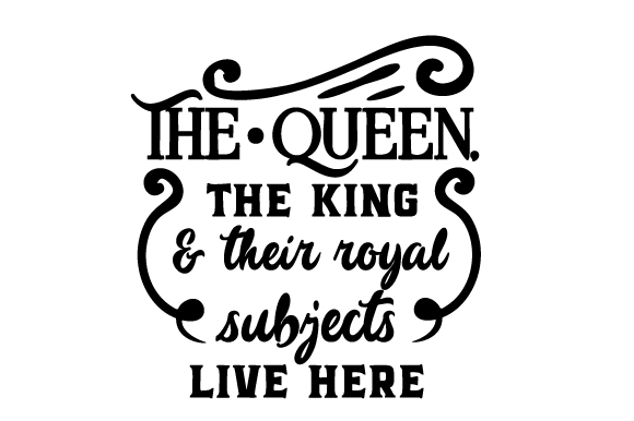Her King Svg His Queen Svg King And Queen Svg Svg Design: The Queen, The King & Their Royal Subjects Live Here SVG
