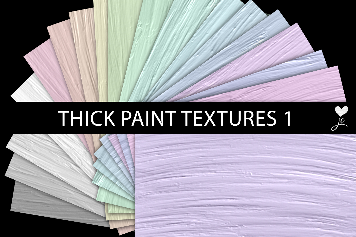 Print on Demand: Thick Paint Textures - Set 1 Graphic Textures By JulieCampbellDesigns