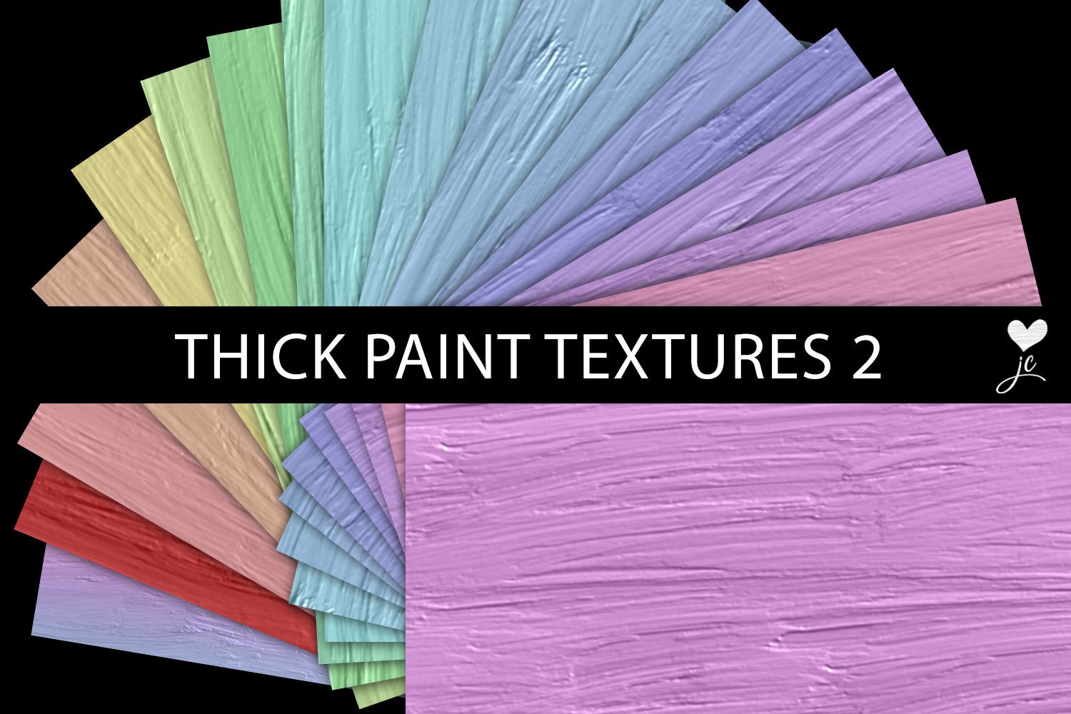 Print on Demand: Thick Paint Textures - Set 2 Graphic Textures By JulieCampbellDesigns