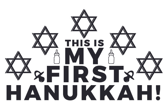 This is My First Hanukkah! Jewish Craft Cut File By Creative Fabrica Crafts - Image 2