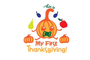This is My First Thanksgiving! Thanksgiving Craft Cut File By Creative Fabrica Crafts
