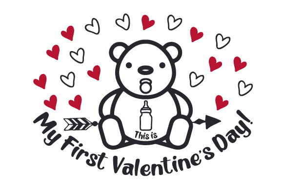 Download Free This Is My First Valentine S Day Svg Cut File By Creative for Cricut Explore, Silhouette and other cutting machines.