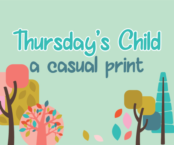 Print on Demand: Thurday's Child Script & Handwritten Font By Illustration Ink - Image 1