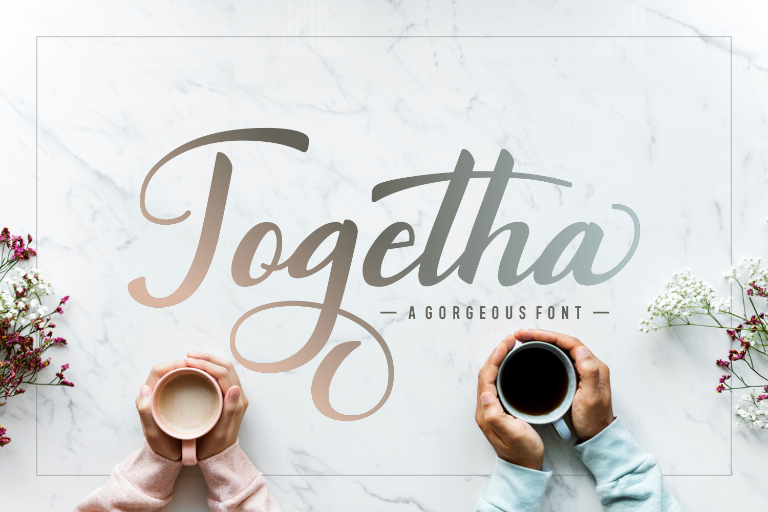 Print on Demand: Togetha Script & Handwritten Font By Andrian Dehasta - Image 1