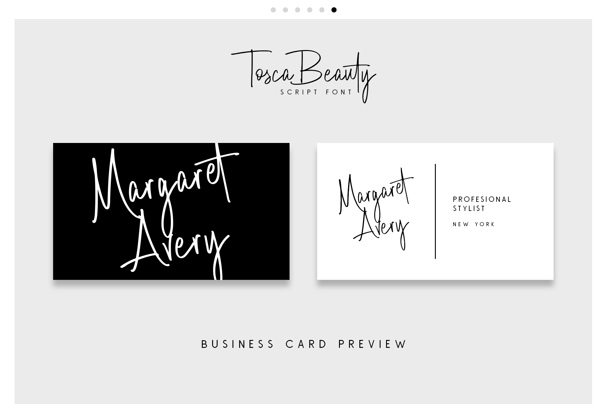 Print on Demand: Tosca Beauty Script & Handwritten Font By Runsell Graphic - Image 3