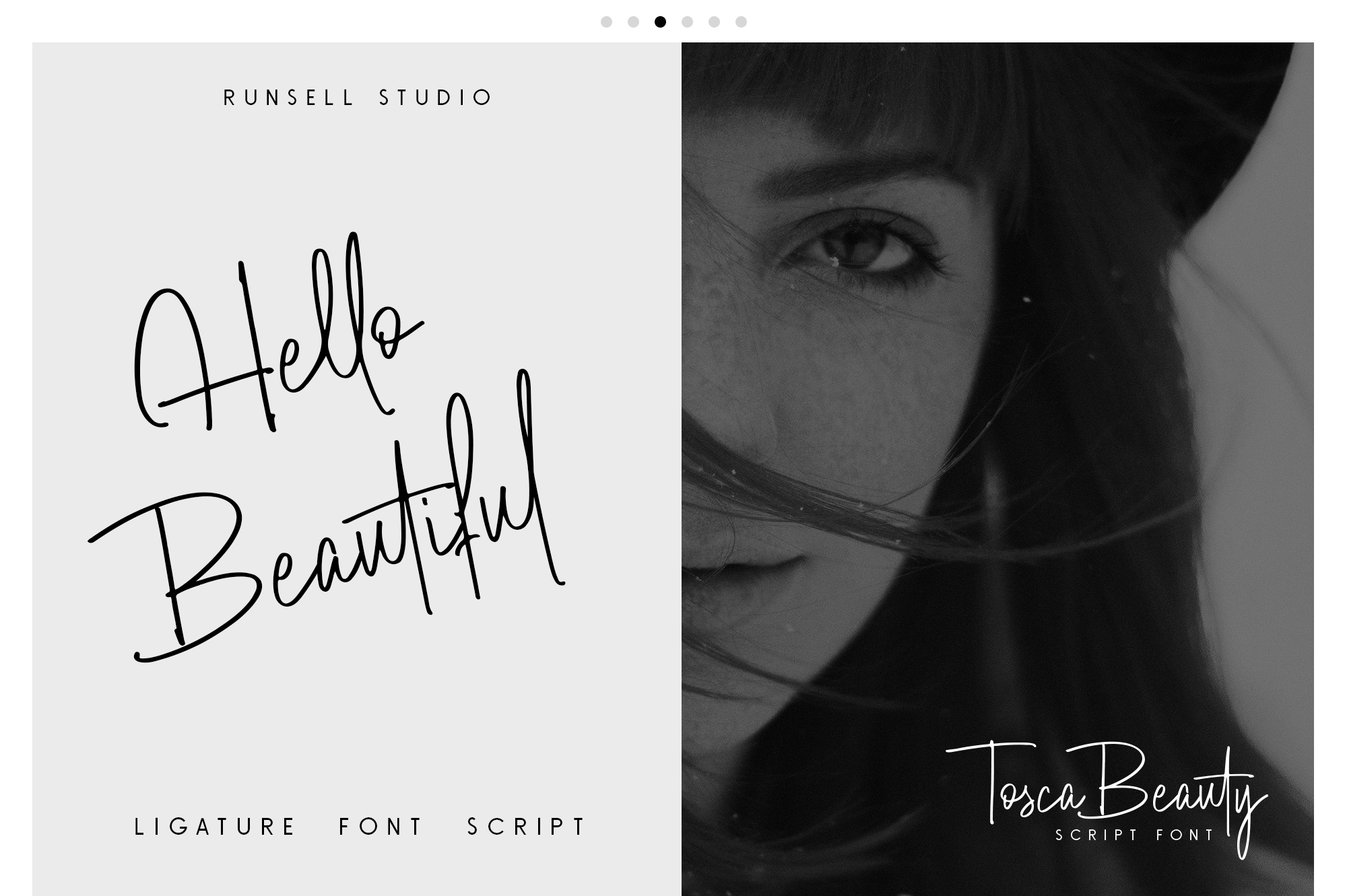 Print on Demand: Tosca Beauty Script & Handwritten Font By Runsell Graphic - Image 5