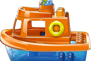 Toy Boat 2 Graphic By fray06100
