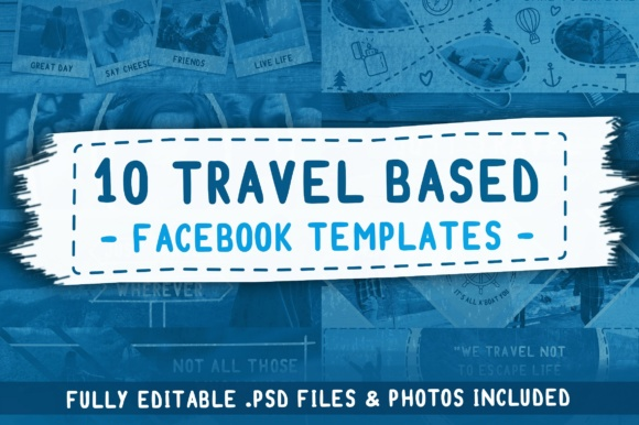 Travel Based PSD Facebook Templates Graphic By brandsparkdesigns