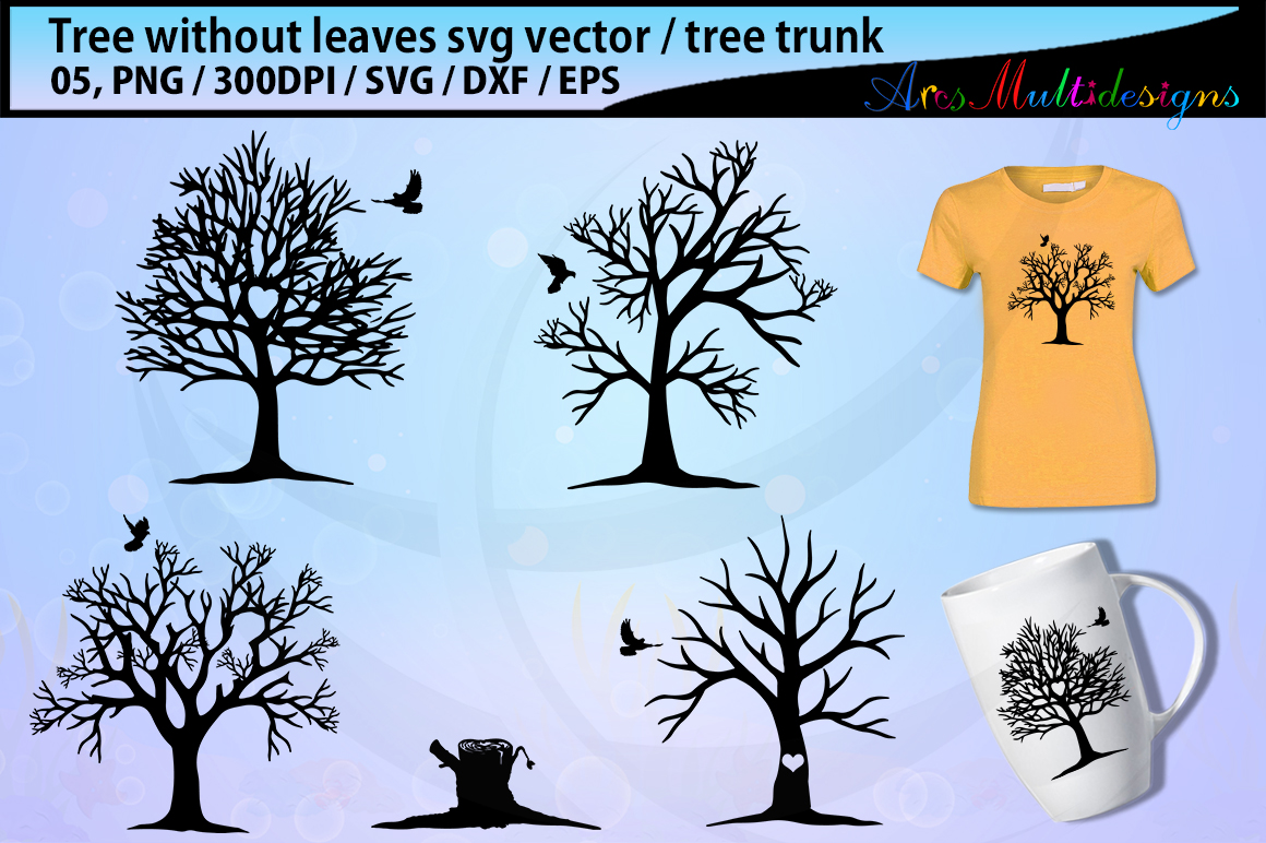 Download Free Tree Without Leaves Svg Graphic By Arcs Multidesigns Creative for Cricut Explore, Silhouette and other cutting machines.