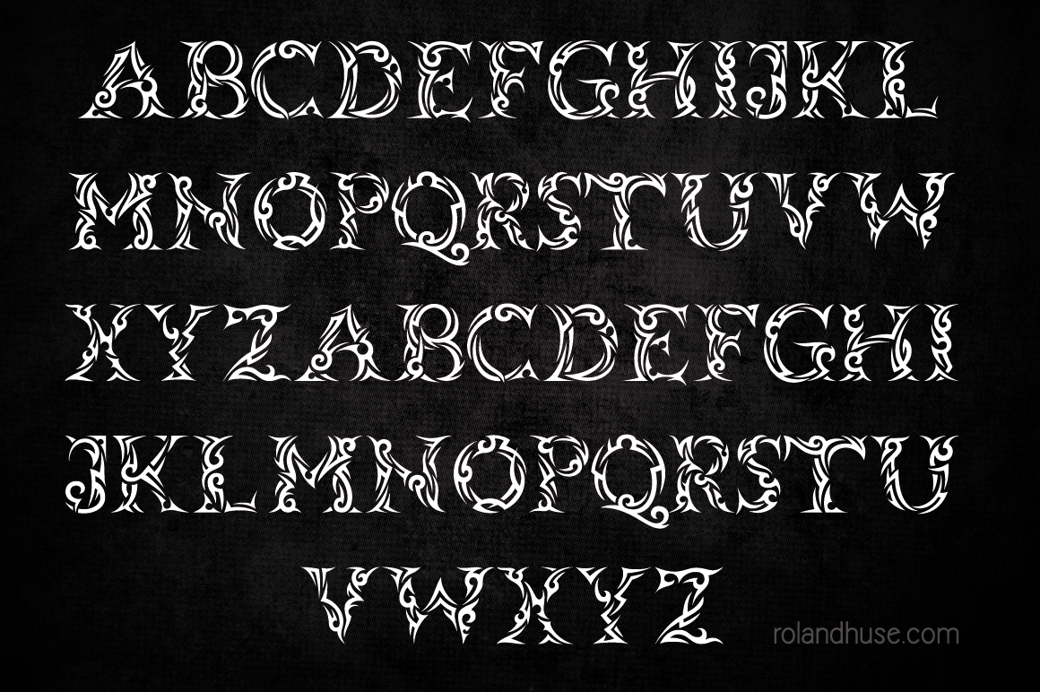 Tribal Case Font By Roland Hüse Image 2