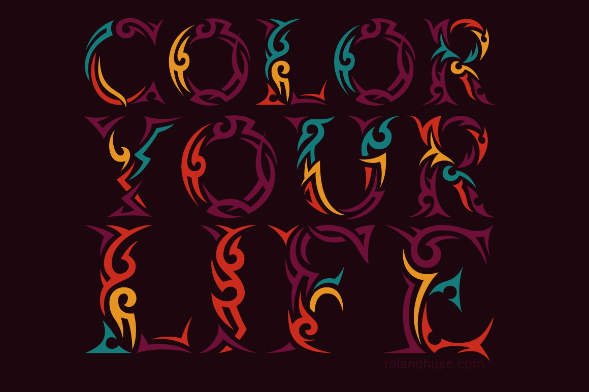 Tribal Case Font By Roland Hüse Image 3