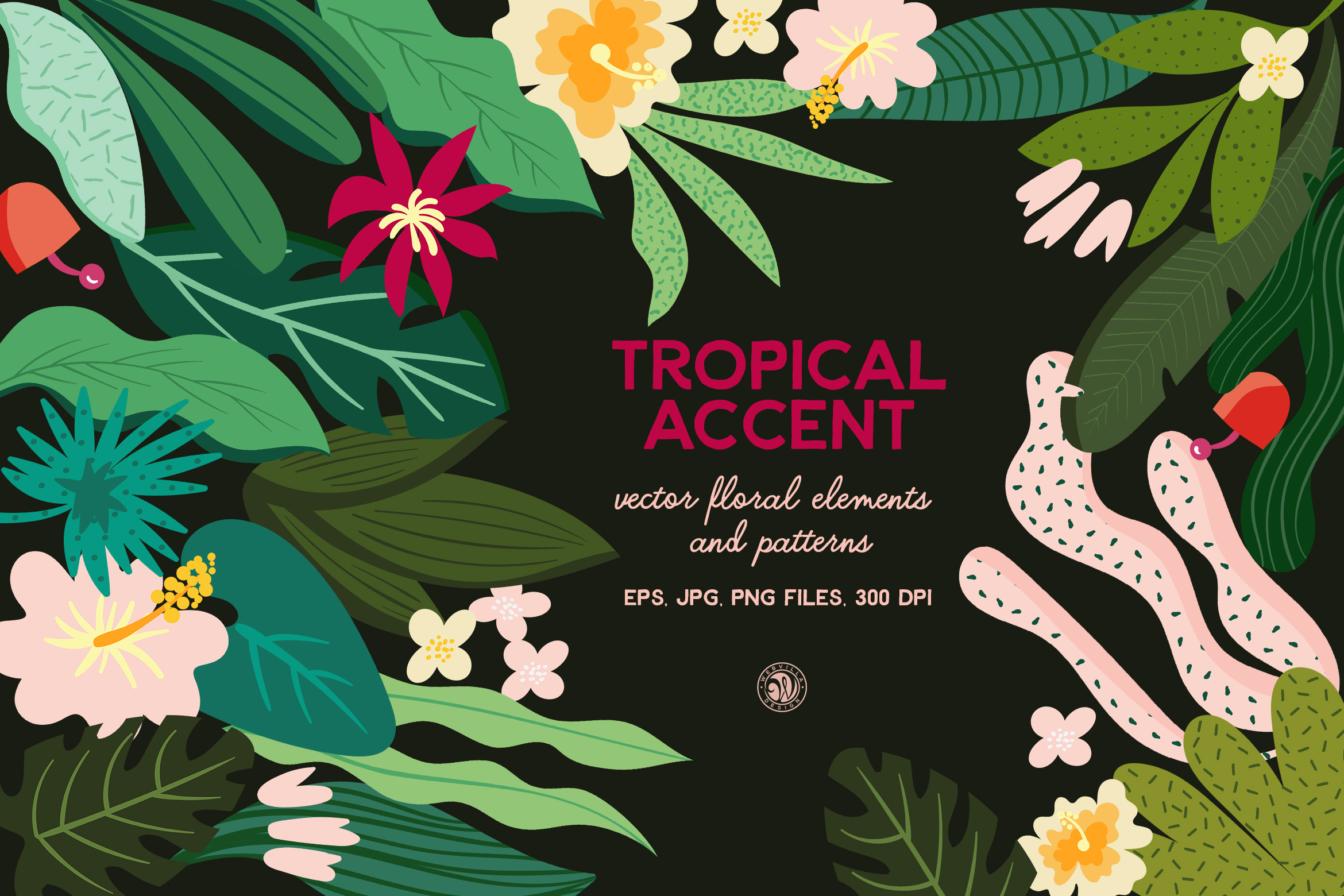 Tropical Accent Graphic By webvilla