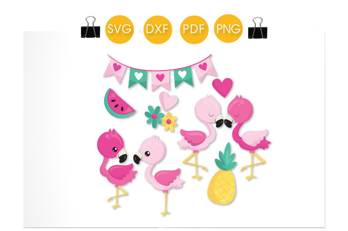 Tropical Flamingos Graphic Crafts By PrettyCuttables - Image 2