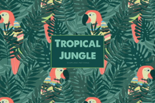 Download Free Tropical Jungle Seamless Patterns Graphic By Illuztrate for Cricut Explore, Silhouette and other cutting machines.