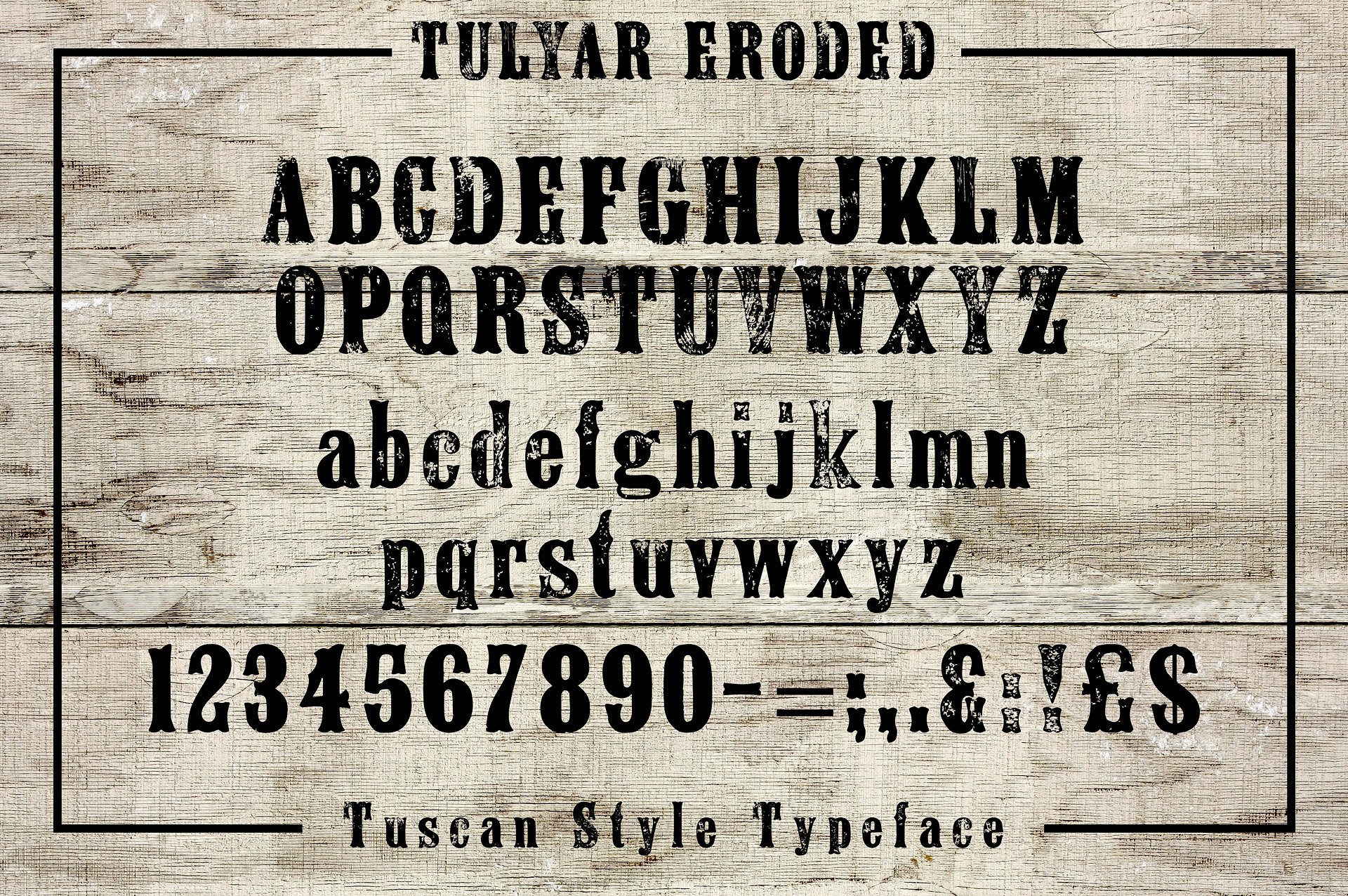 Print on Demand: Tulyar Eroded Woodblock Display Font By K22 Foundry - Image 2