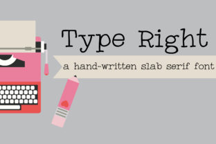 Print on Demand: Type Right Slab Serif Font By Illustration Ink