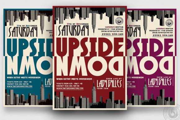 Upside Down Flyer Template Graphic By ThatsDesignStore