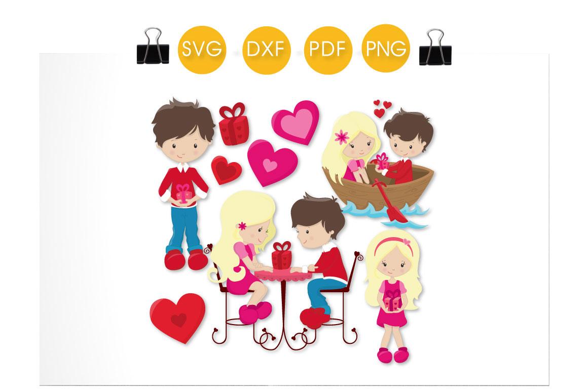 Valentines Couple Graphic Crafts By PrettyCuttables - Image 2