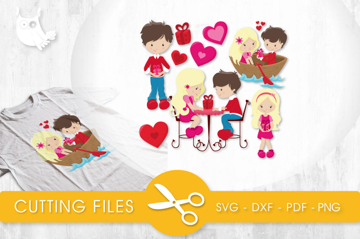 Valentines Couple Graphic Crafts By PrettyCuttables - Image 1