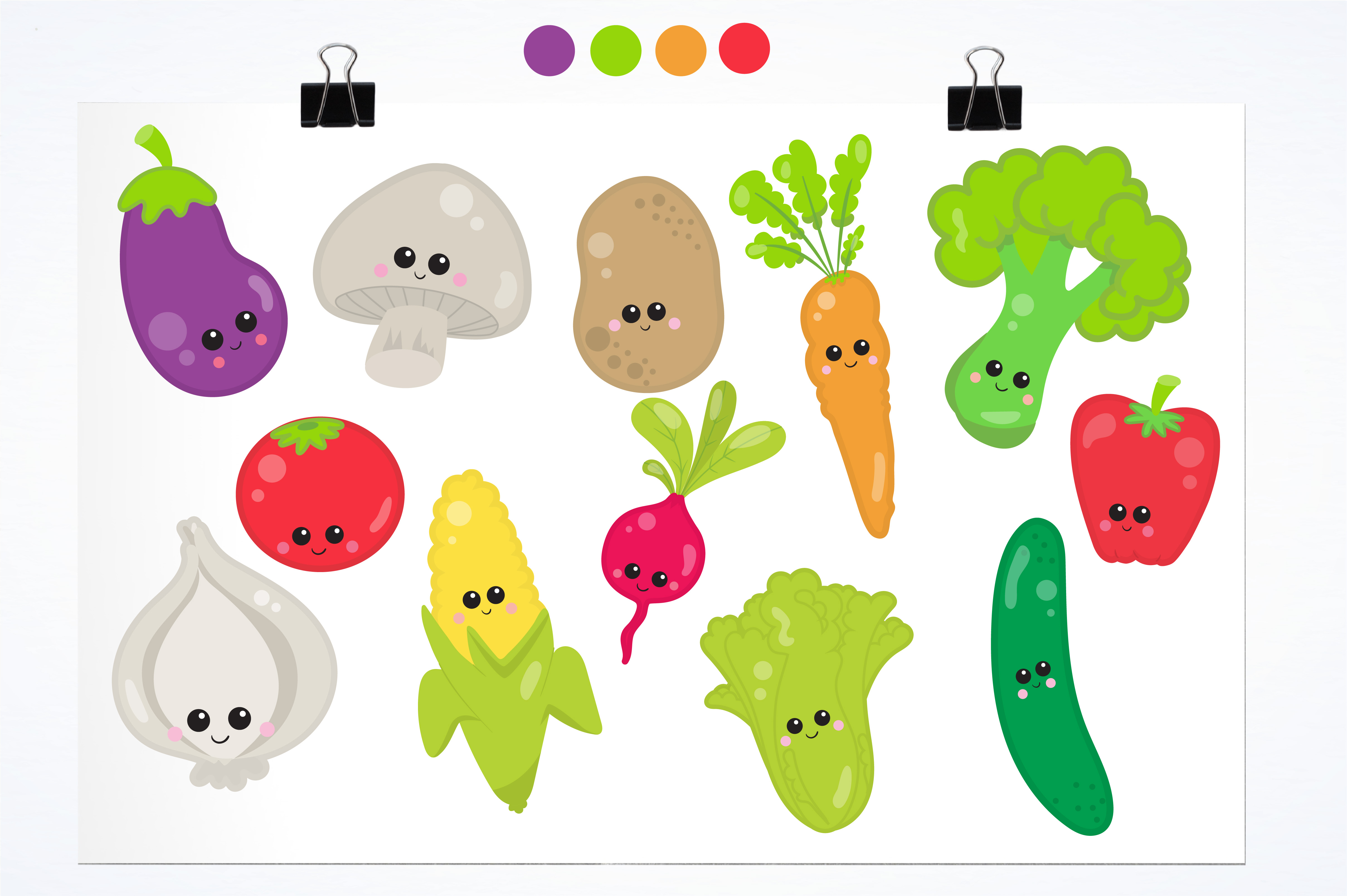 Print on Demand: Vege Clipart Graphic Illustrations By Prettygrafik - Image 2