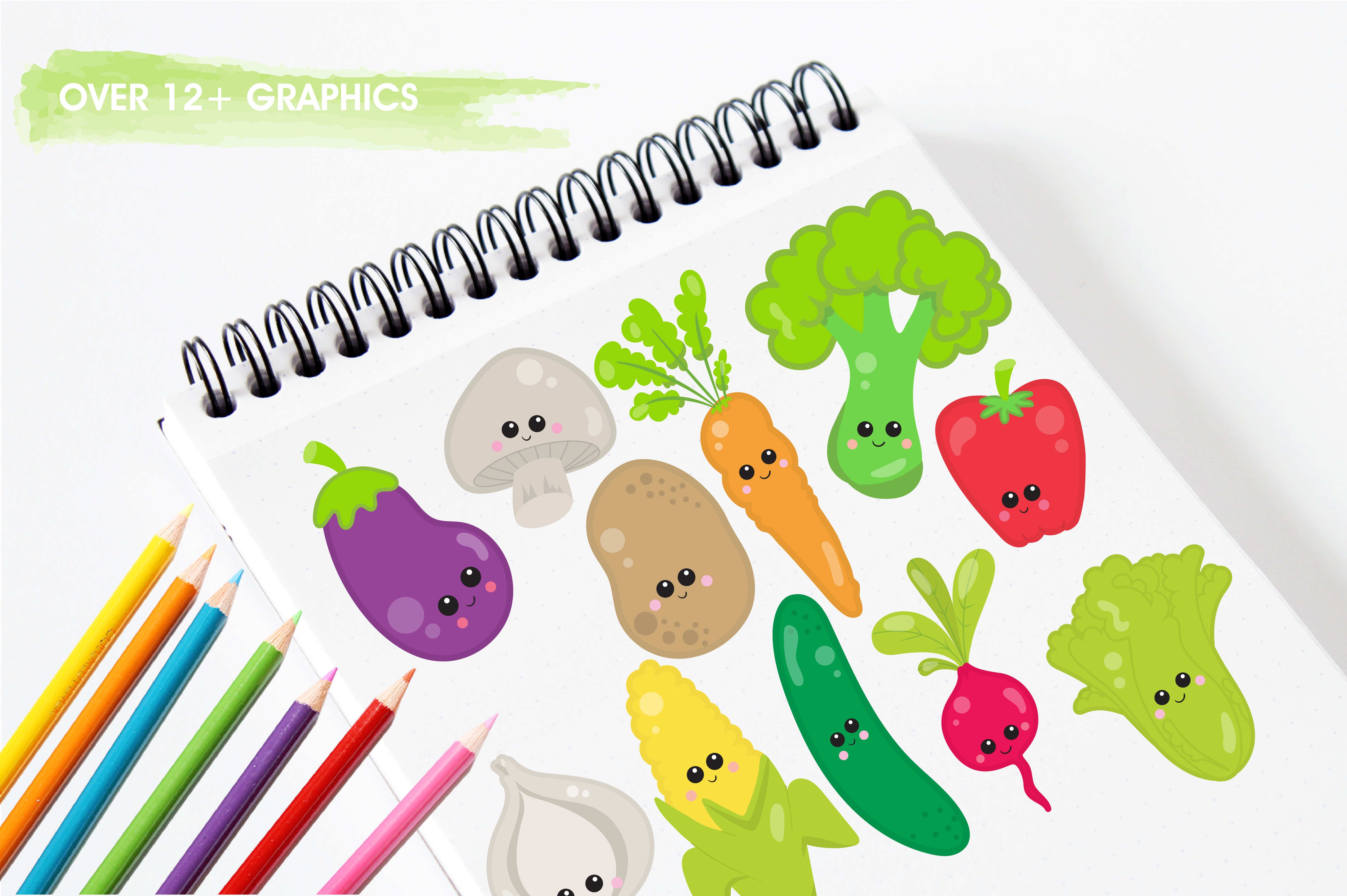 Print on Demand: Vege Clipart Graphic Illustrations By Prettygrafik - Image 3