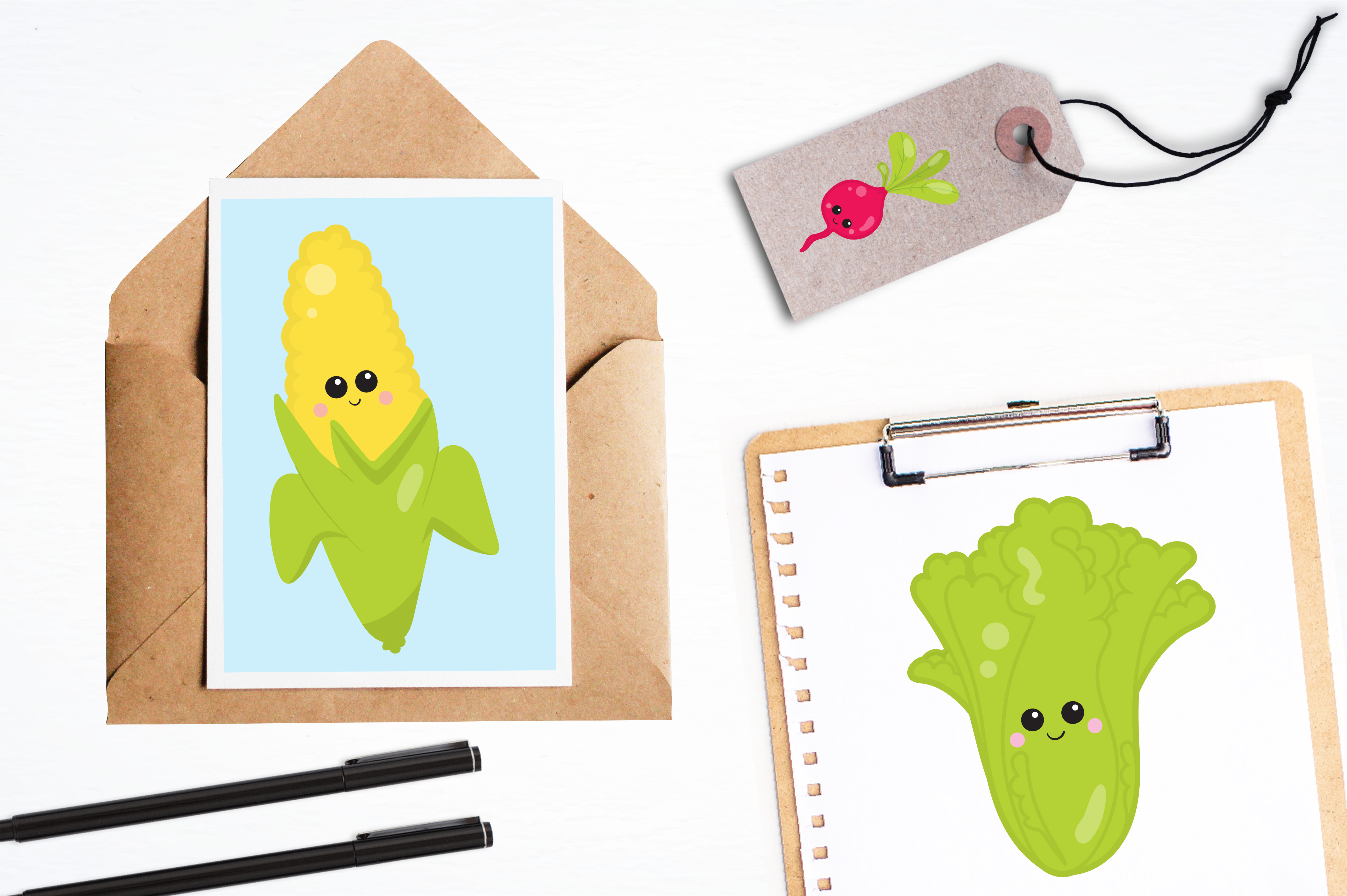 Print on Demand: Vege Clipart Graphic Illustrations By Prettygrafik - Image 4