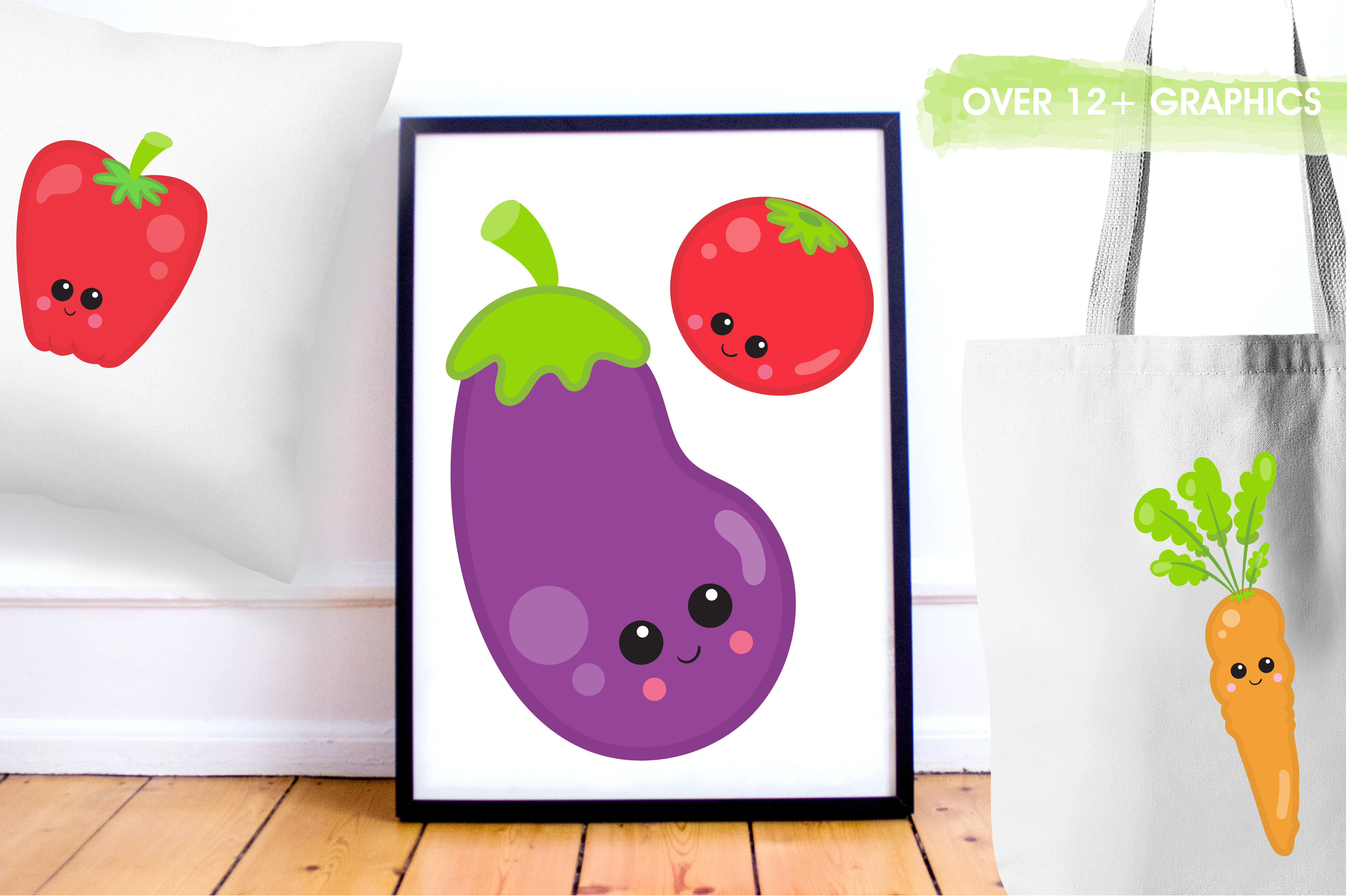 Print on Demand: Vege Clipart Graphic Illustrations By Prettygrafik - Image 5