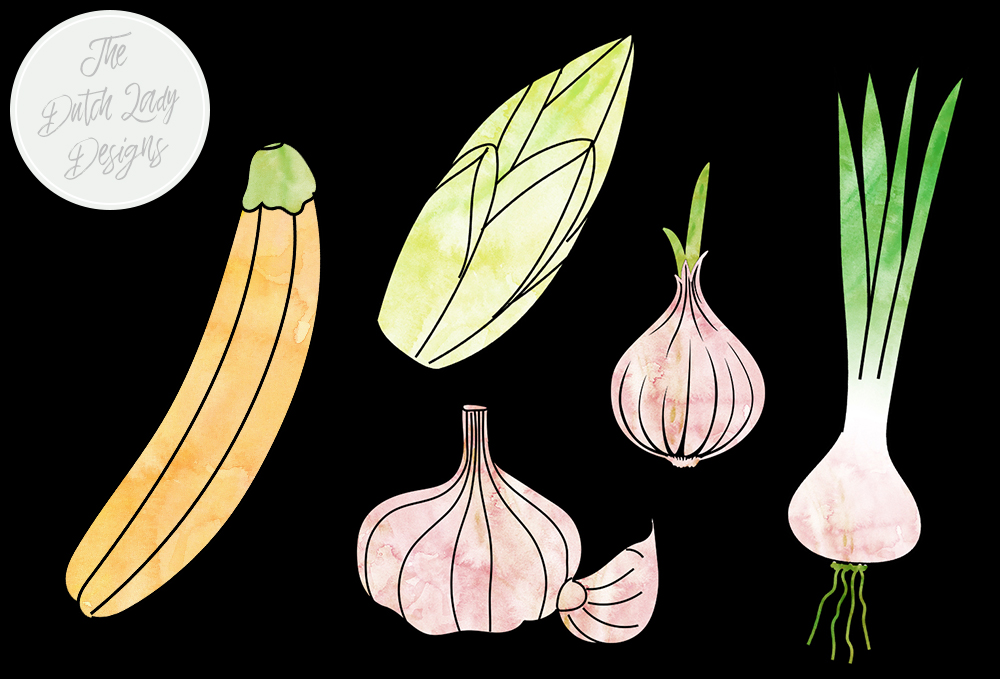 Download Free Vegetable Clipart Set Watercolor Veggie Images Vegetable for Cricut Explore, Silhouette and other cutting machines.