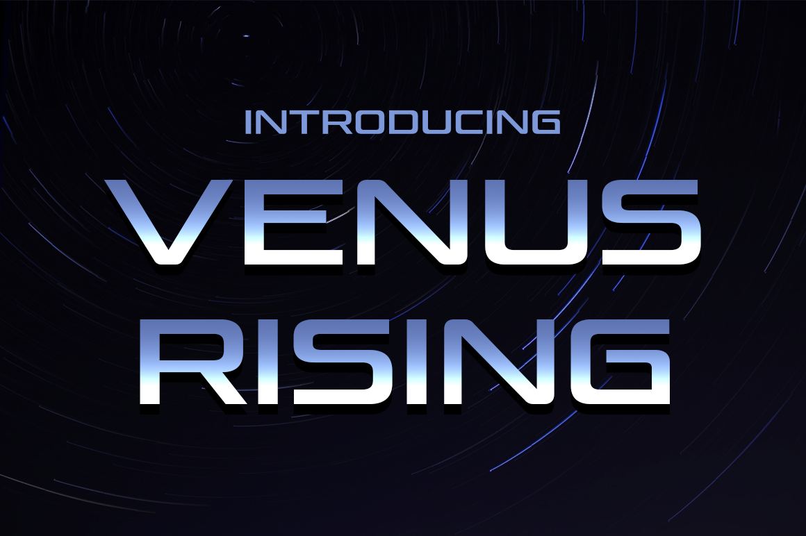 Print on Demand: Venus Rising Display Font By Typodermic