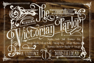 Print on Demand: Victorian Parlor Serif Font By Burntilldead