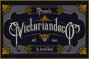 Victoriandeco Font By Burntilldead