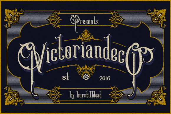 Print on Demand: Victoriandeco Serif Font By Burntilldead
