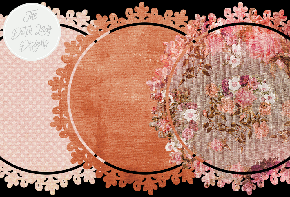 Download Free Vintage Doily Clipart Set Circle Shape Labels With Pink Toned for Cricut Explore, Silhouette and other cutting machines.