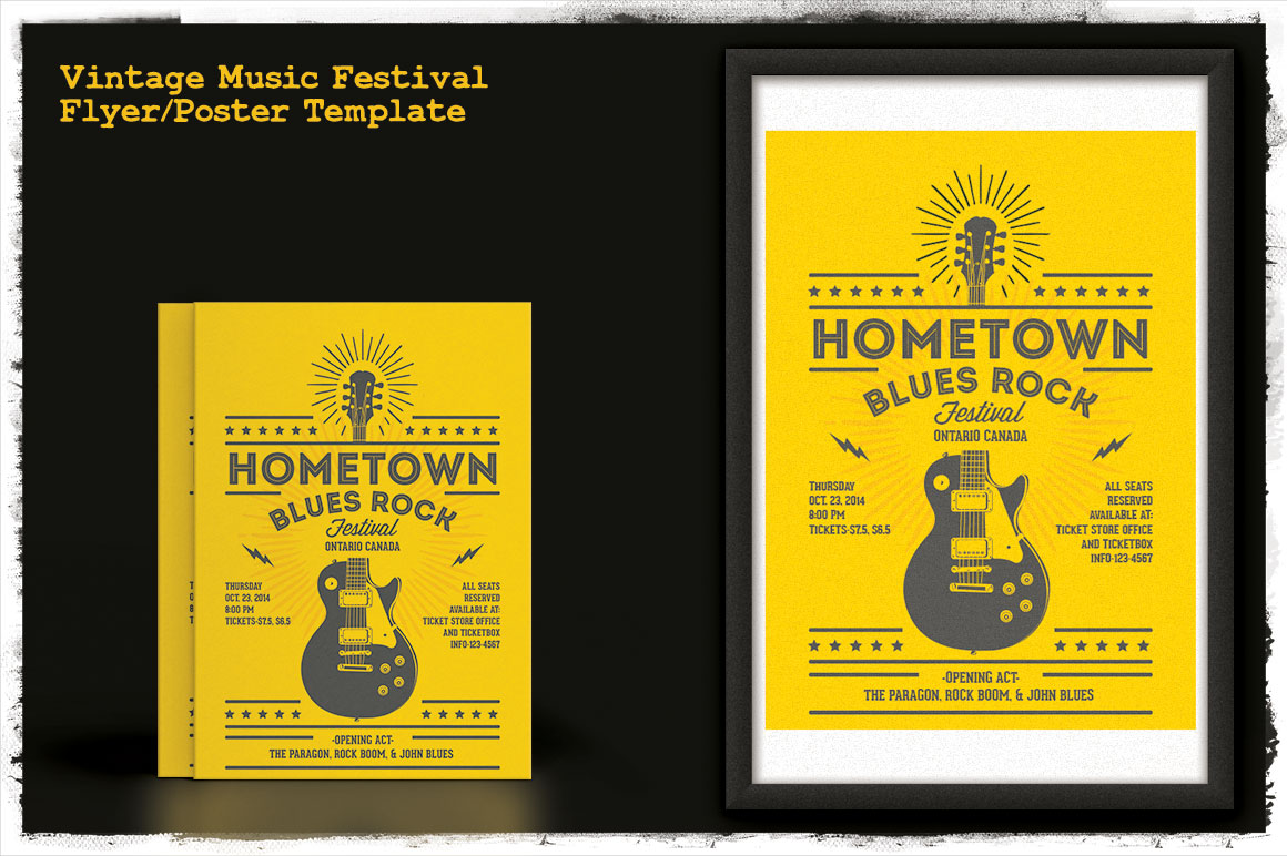 Print on Demand: Vintage Music Festival Flyer/Poster Graphic Print Templates By Tiar Prayoga - Image 2
