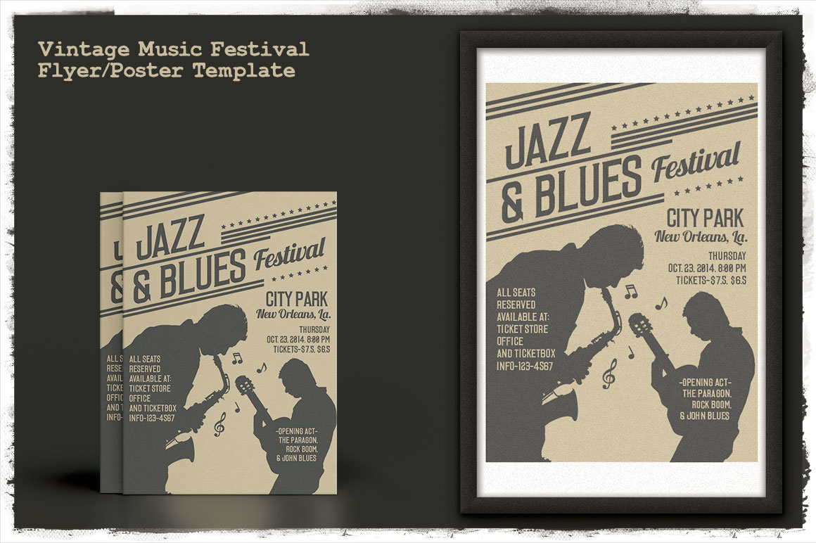 Print on Demand: Vintage Music Festival Flyer/Poster Graphic Print Templates By Tiar Prayoga - Image 3