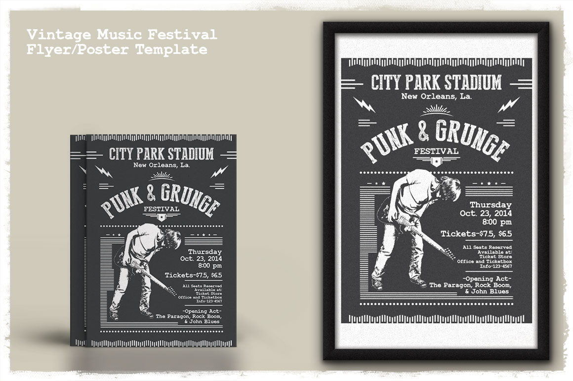 Print on Demand: Vintage Music Festival Flyer/Poster Graphic Print Templates By Tiar Prayoga - Image 4