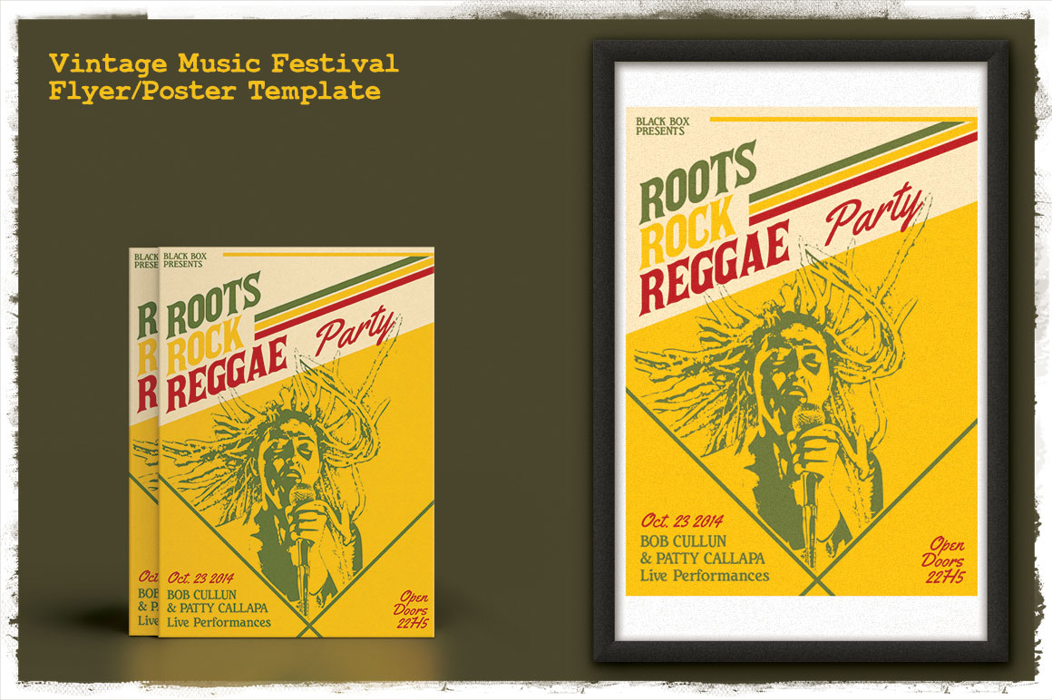 Vintage Music Festival Flyer/Poster Graphic By Tiar Prayoga Image 5