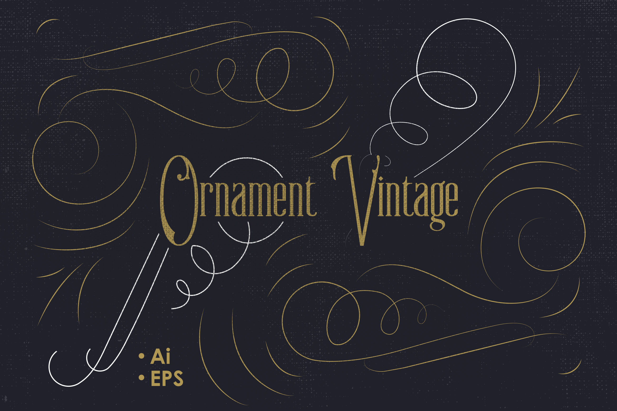 Vintage Vector Ornaments 2 Graphic Objects By storictype