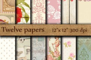 Vintage Digital Papers Graphic Backgrounds By twelvepapers