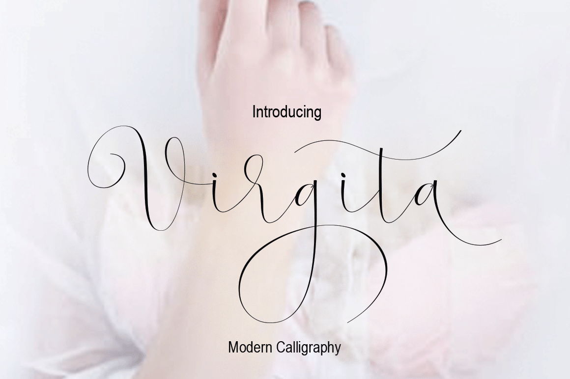 Virgita Font By halimantoni103