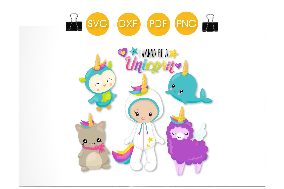 Wanna Be a Unicorn Graphic Crafts By PrettyCuttables - Image 2