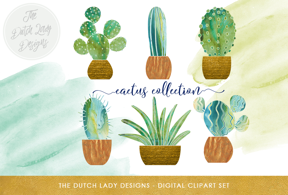 Download Free Watercolor Cactus Clipart Set Cactus Succulent And Watercolor for Cricut Explore, Silhouette and other cutting machines.