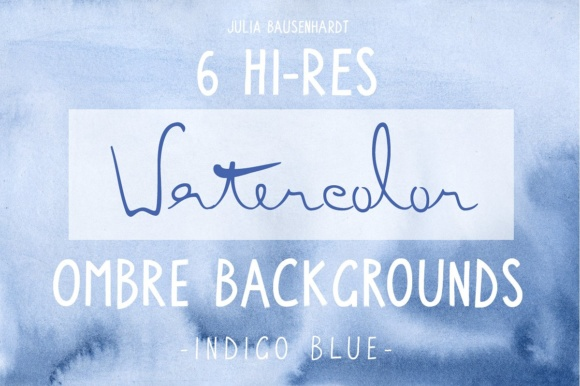 Watercolor Ombre Backgrounds (blue) Graphic Backgrounds By juliabausenhardt