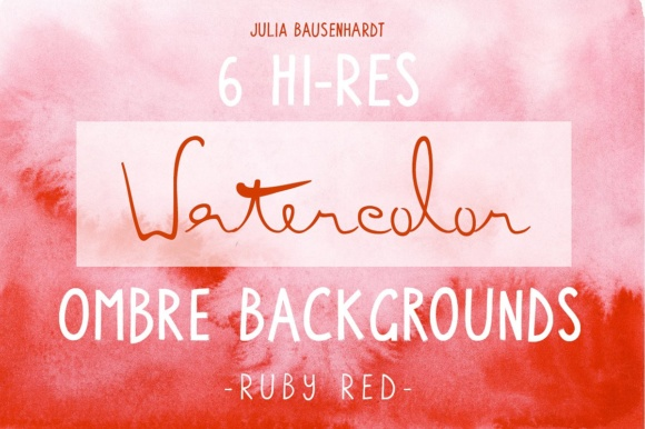 Watercolor Ombre Backgrounds (red) Graphic Backgrounds By juliabausenhardt