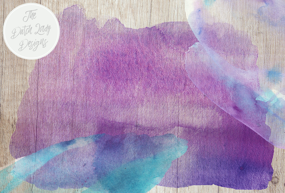 Print on Demand: Watercolor Smears the Blues - in Blue, Purple & Aqua Tones - Waterpaint Textures - Brush Shapes Graphic Backgrounds By daphnepopuliers - Image 6